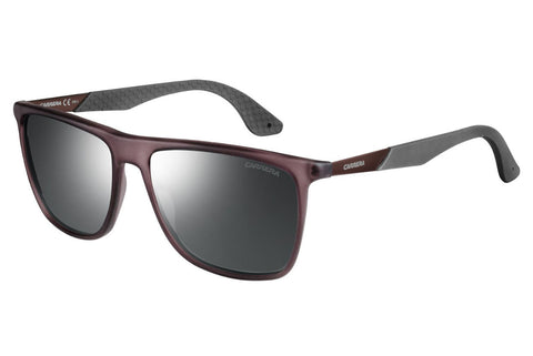 Carrera - 5018/S Matte Brown Gray Sunglasses, Gray Mirror Silver Lenses