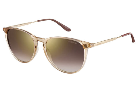 Carrera - 5030/S Beige Gold Sunglasses, Brown Mirror Gold Shaded Lenses