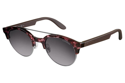 Carrera - 5035/S Havana Cherry Brown Sunglasses, Gray Mirror Shaded Silver Lenses