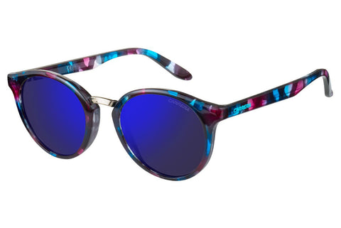 Carrera - 5036/S Turquoise Havana Sunglasses, Blue Sky Mirror Lenses