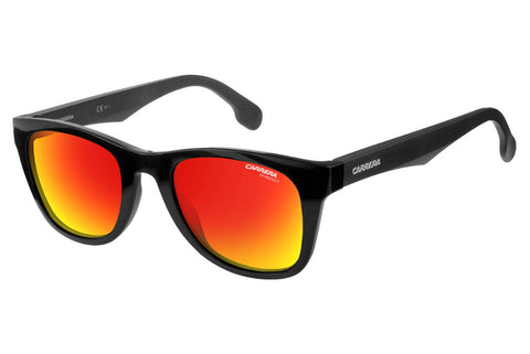 Carrera - 5038/S Black Metalized Sunglasses, Red Mirror Lenses