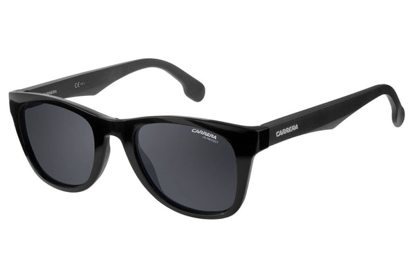 Carrera - 5038/S Black Metalized Sunglasses, Gray Blue Lenses