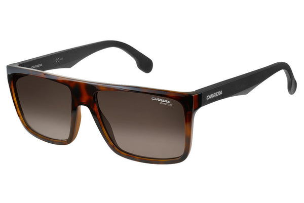 Carrera - 5039/S Havana Matte Black Sunglasses, Brown Gradient Lenses