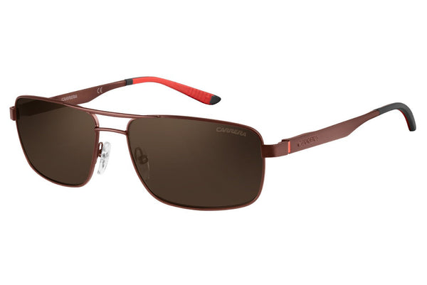 Carrera - 8011/S Matte Dark Brown Sunglasses, Bronze Polarized Lenses