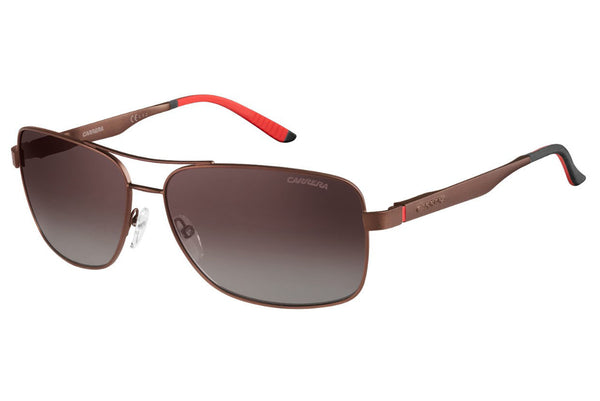 Carrera - 8014/S Semi Matte Brown Sunglasses, Brown Gradient Polarized Lenses