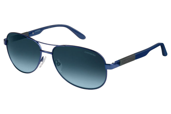 Carrera - 8019/S Matte Blue Sunglasses, Dark Blue Gradient Lenses