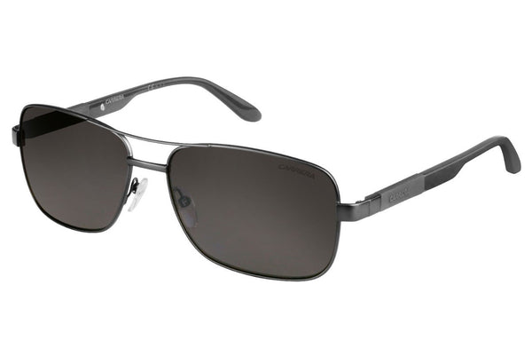 Carrera - 8020/S Matte Dark Rust Gray Sunglasses, Gray Polarized Lenses