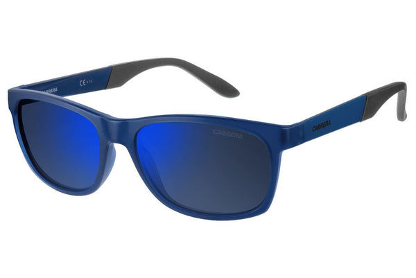 Carrera - 8021/S Blue Sunglasses, Gray Mirror Blue Lenses