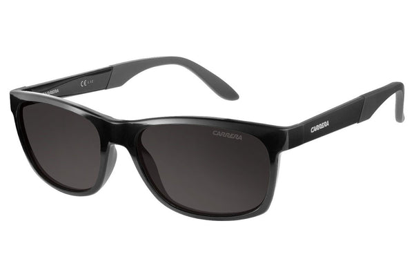 Carrera - 8021/S Shiny Black Sunglasses, Gray Polarized Lenses