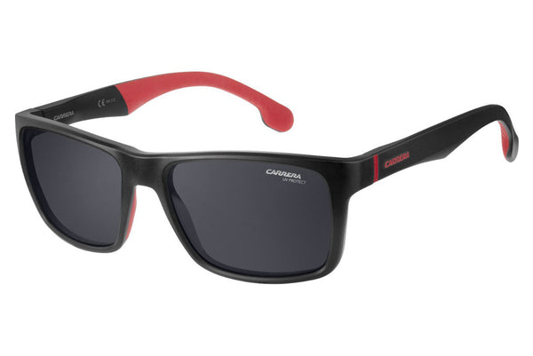 Carrera - 8024/LS Matte Black Sunglasses, Gray Blue Lenses
