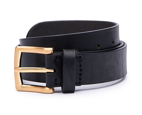 Void Watches - V02MKII Matte Gold Analogue Black Leather Strap Gold Buckle Clever Analogue Watch