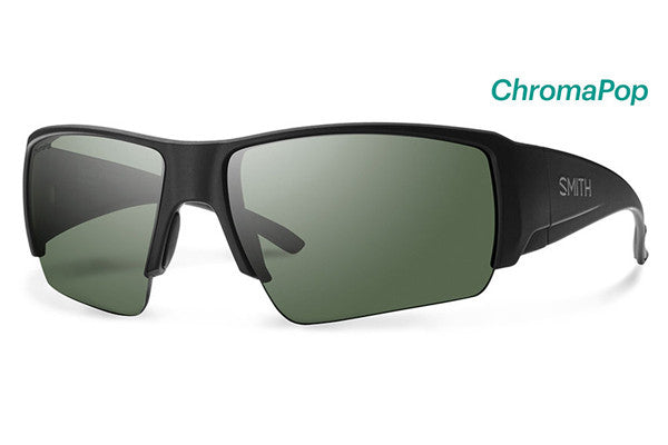 Smith - Captain's Choice Matte Black Sunglasses, ChromaPop Polarized Gray Green Lenses