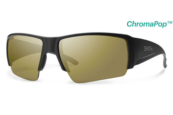 Smith - Captain's Choice Matte Black Sunglasses, ChromaPop Polarized Bronze Mirror Lenses
