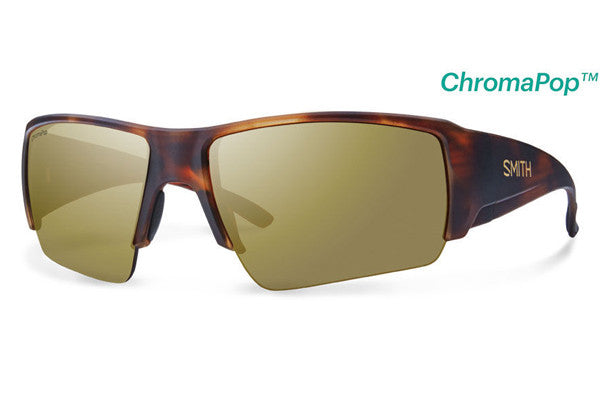 Smith - Captain's Choice Matte Havana Sunglasses, ChromaPop Polarized Bronze Mirror Lenses