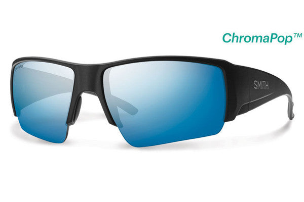 Smith - Captain's Choice Matte Black Sunglasses, ChromaPop Polarized Blue Mirror Lenses