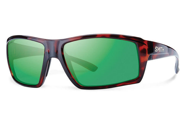 Smith Challis Tortoise Sunglasses, Techlite Polarized Green Mirror Lenses