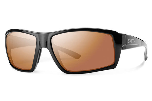 Smith - Challis Black Sunglasses, Techlite Polarchromic Copper Mirror Lenses