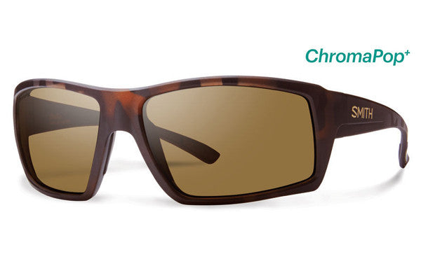 Smith - Challis Matte Tortoise Sunglasses, ChromaPop+ Polarized Brown Lenses