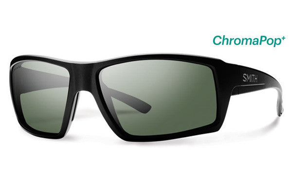 Smith - Challis Matte Black Sunglasses, ChromaPop+ Polarized Gray Green Lenses