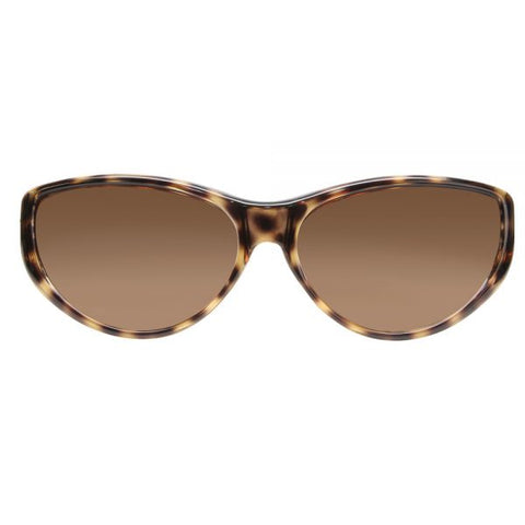 Jonathan Paul Fitovers - Chic Kitty Brown Cheetah Fitover Sunglasses / Polarvue Amber Lenses