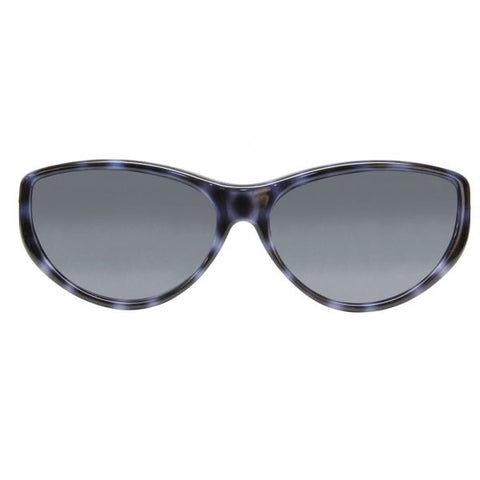 Jonathan Paul Fitovers - Chic Kitty Blue Cheetah Fitover Sunglasses / Polarvue Gray Lenses