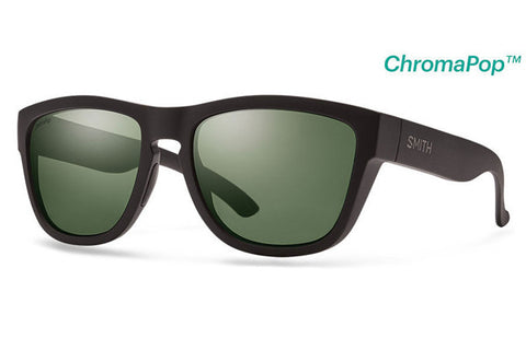 Smith - Clark Matte Black Sunglasses, ChromaPop Polarized Gray Green Lenses