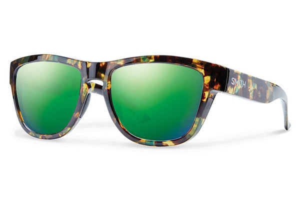 Smith Clark Flecked Green Tortoise Sunglasses, Green Sol-X Lenses