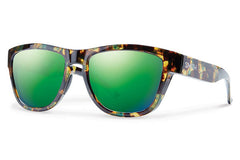 Smith - Clark Flecked Green Tortoise Sunglasses, Green Sol-X Lenses