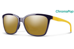 Smith - Colette Midnight Matte Honey Sunglasses, ChromaPop Polarized Bronze Mirror Lenses