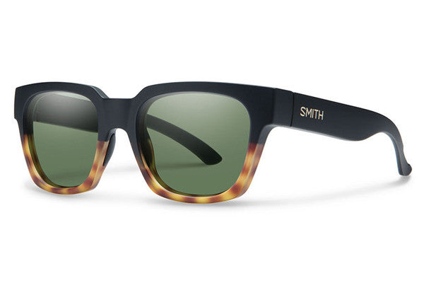 Smith - Comstock Matte Black Fade Tortoise Sunglasses, Gray Green Lenses