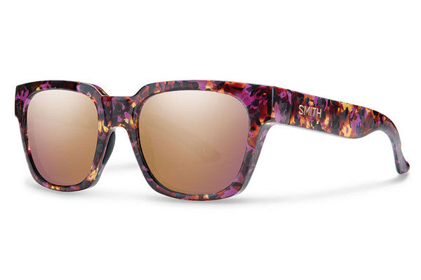 Smith - Comstock Flecked Mulberry Tortoise Sunglasses, Rose Gold Mirror Lenses
