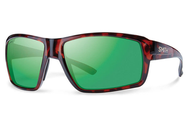 Smith - Colson Tortoise Sunglasses, Techlite Polarized Green Mirror Lenses