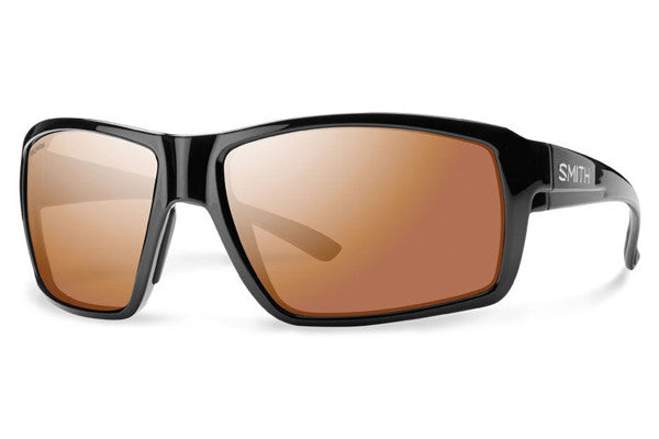 Smith Colson Black Sunglasses, Techlite Polarchromic Copper Mirror Lenses
