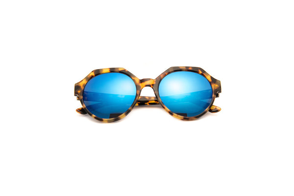 Kyme - Mary Tortoise Blue Sunglasses