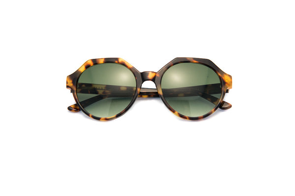 Kyme - Mary Tortoise Green Sunglasses