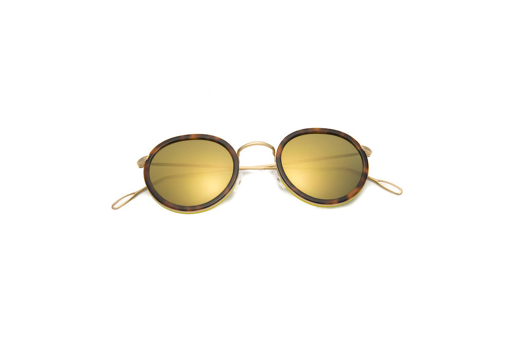 Kyme - Matti Gold Mirrored Sunglasses