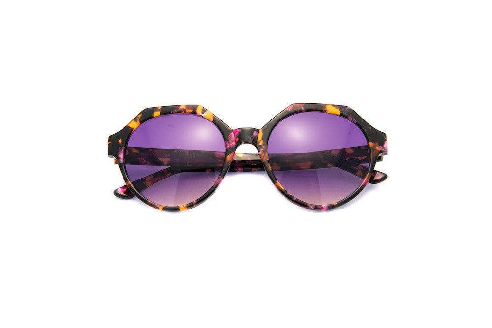 Kyme - Mary Marble Tortoise Violet Sunglasses