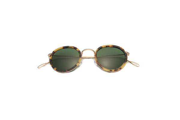 Kyme - Matti Gold Green Sunglasses