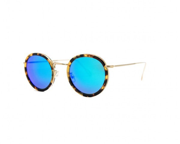 Kyme - Matti Blue Mirrored Sunglasses
