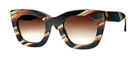 Thierry Lasry - Concubiny Dark Horn Sunglasses / Brown Gradient Lenses