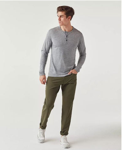Olivers - Convoy Henley Grey Marle Long-Sleeve