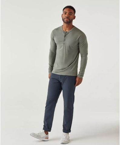 Olivers - Convoy Henley Sage Long-Sleeve