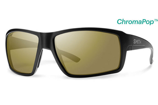 Smith - Colson Matte Black Sunglasses, ChromaPop Polarized Bronze Mirror Lenses