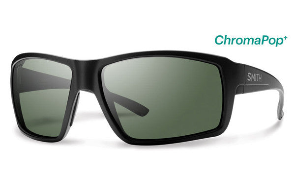 Smith - Colson Matte Black Sunglasses, ChromaPop+ Polarized Gray Green Lenses