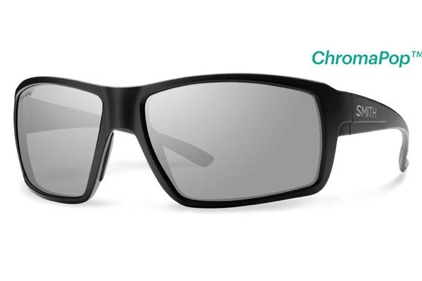 Smith - Colson Matte Black Sunglasses, ChromaPop Polarized Platinum Lenses