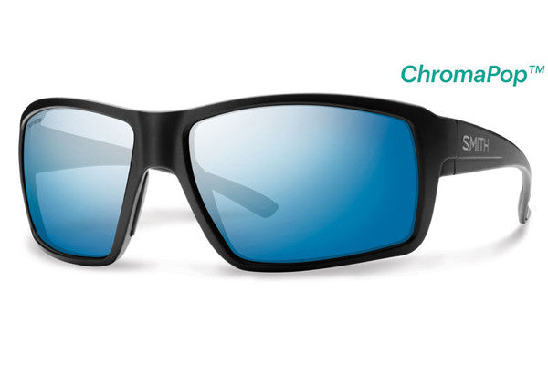 Smith - Colson Matte Black Sunglasses, ChromaPop Polarized Blue Mirror Lenses