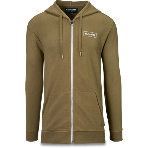 Dakine - Men's Cove Lightweight Fullzip Dark Olive Hoodie
