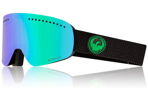 Dragon - NFX Split Snow Goggles / Lumalens Green Ion + Lumalens Amber Lenses