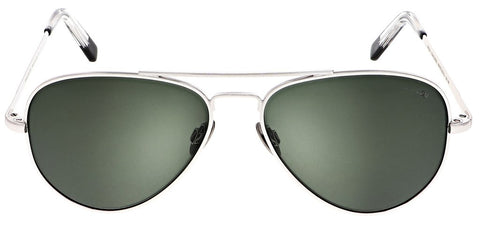 Randolph - Concorde 57m 23K White Gold Skull Temple Sunglasses / SkyTec Polarized AGX Lenses