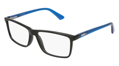 Puma - PJ0016O Junior Black + Light Blue Eyeglasses / Demo Lenses